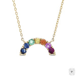 Semi Circle Rainbow Necklace