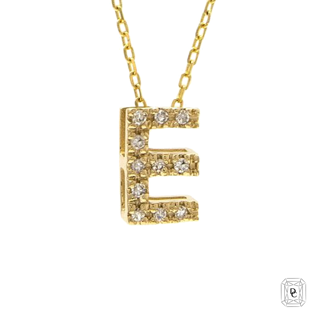 Mini Diamond Initial Necklace