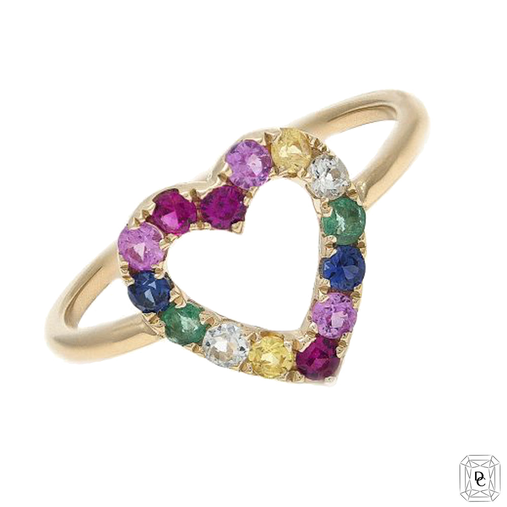 Heart Rainbow Ring