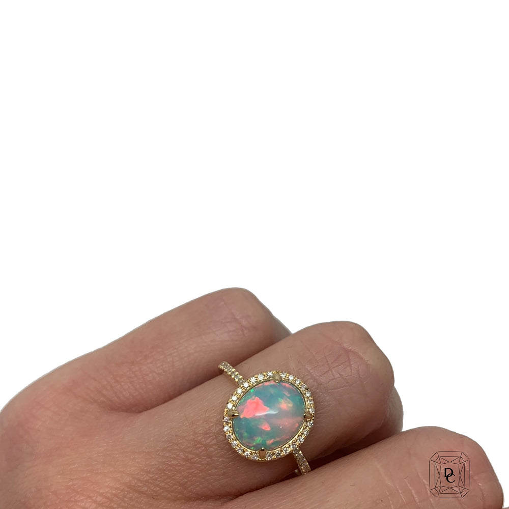 Opal Halo Ring