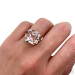 Morganite Rainbow Ring