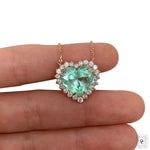 Heart  Emerald Necklace