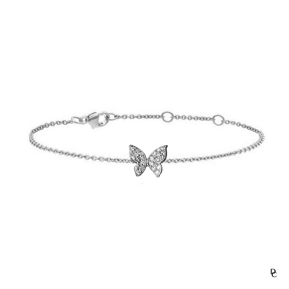 Mother & Daughter Butterfly Bracelet