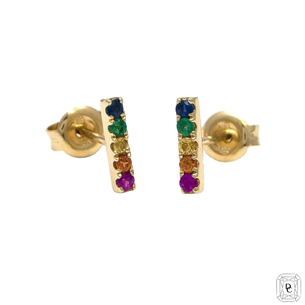 Mini Rainbow Bar Studs