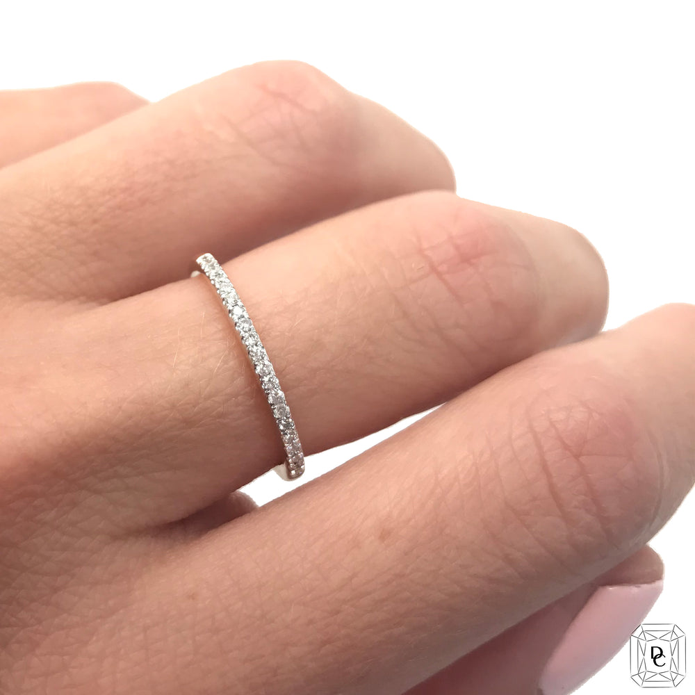 Half Eternity Diamond Ring .15 ct