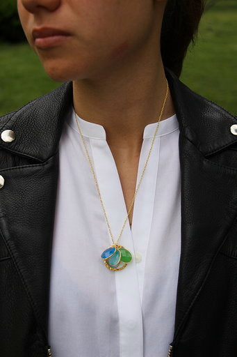 Collier Rond Blue Lagon