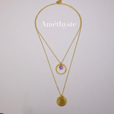 "Collier Double rangs ""Cosmo"""