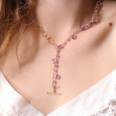 Collier bubble impression tanzanite