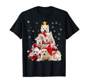 Westie Christmas Tree T Shirt Xmas Gift For Westie Dog T-Shirt
