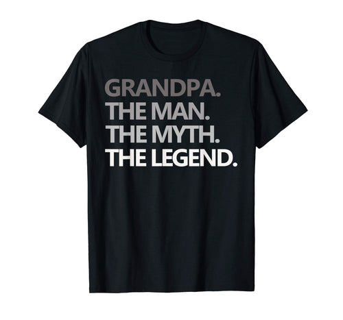 Mens GRANDPA THE MAN THE MYTH THE LEGEND Father's Day T Shirt