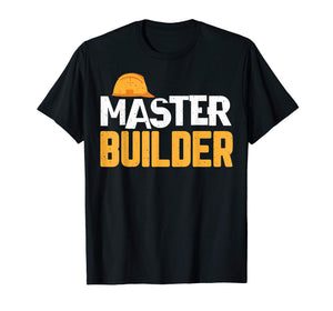 Father And Son Matching T-Shirt Master Builder Shirt