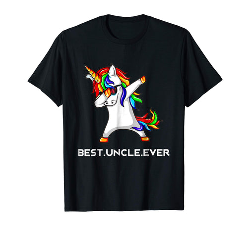 Funny Best Uncle Ever Dabbing Unicorn T Shirt Gift