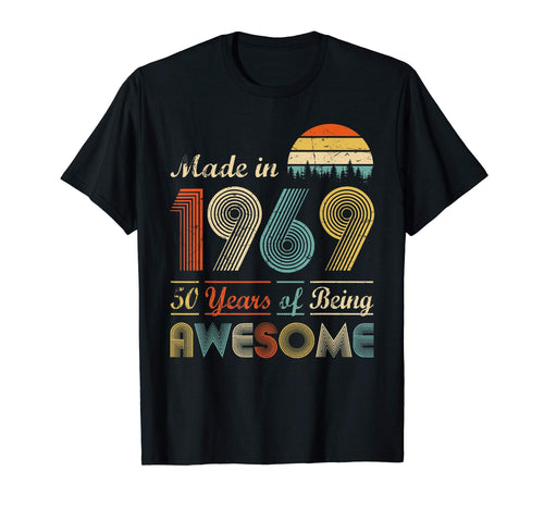 Made in 1969 - 50th Birthday T-Shirt 50 years old Gift