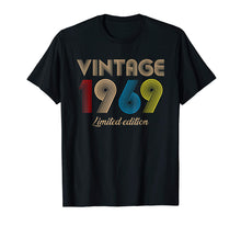 Afbeelding in Gallery-weergave laden, Vintage 1969 T-Shirt Born in 1969 Retro 50th Birthday Gifts