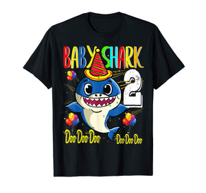 Kids Baby Shark 2nd Birthday Doo Doo Kids Son T Shirt