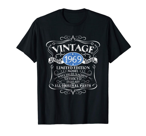 Vintage 1969 50th Birthday All Original Parts Gift T-Shirt