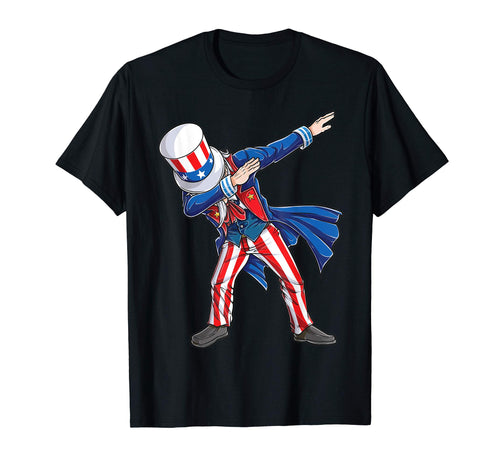 4th of july shirts for kids Dabbing Uncle Sam Boys Men Gifts