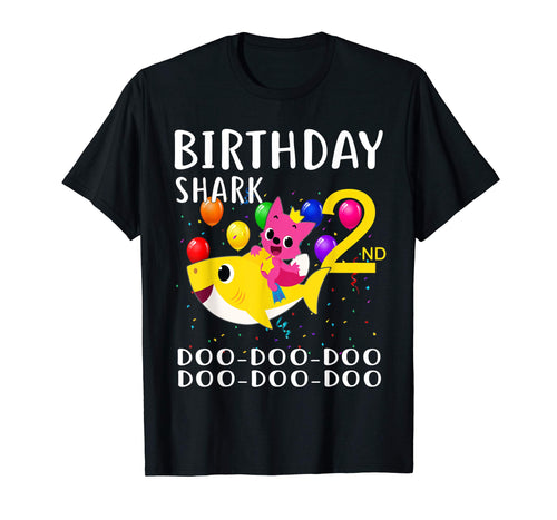 Family Matching 2nd Birthday Kids T-Shirt For Shark Lovers