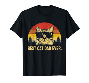 Vintage Best Cat Dad Ever T-Shirt Cat Daddy Father Gift Men