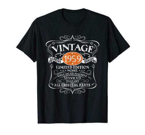 Vintage 1959 60th Birthday All Original Parts Gift T-Shirt