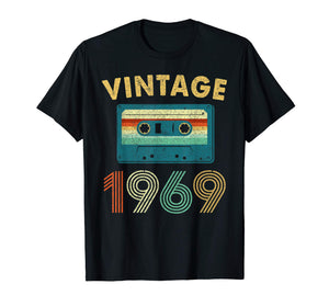 50th Birthday Gift Vintage Mixtape 1969 50 Years Old T-Shirt