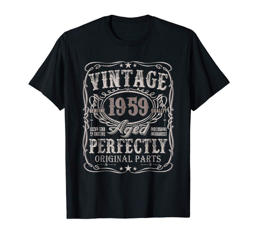 60 Years Old 1959 Vintage 60th Birthday T Shirt Decorations