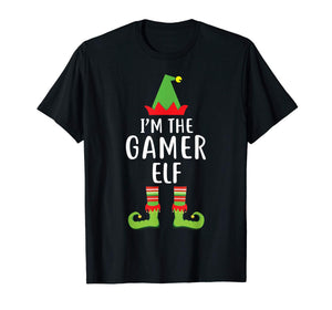 I'm The Gamer Elf Matching Family Group Christmas T Shirt