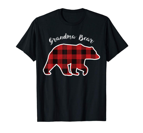 GRANDMA BEAR | Women Red Plaid Christmas Pajama Family Gift