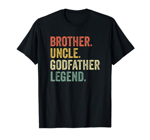 Mens Uncle Godfather Gifts From Godchild Nephew Niece Vintage T-Shirt