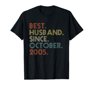 Mens 14th Wedding Anniversary Gift Husband Since October 2005 T-Shirt