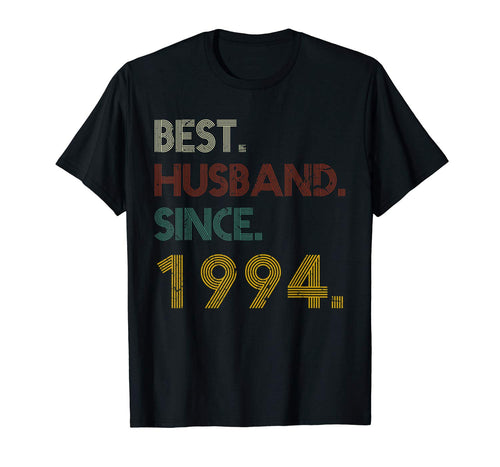 25th Wedding Anniversary Best Husband Since 1994 T-shirt