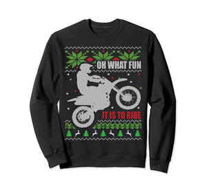 Dirt Bike Ugly Christmas SweatShirt; Holiday Motocross