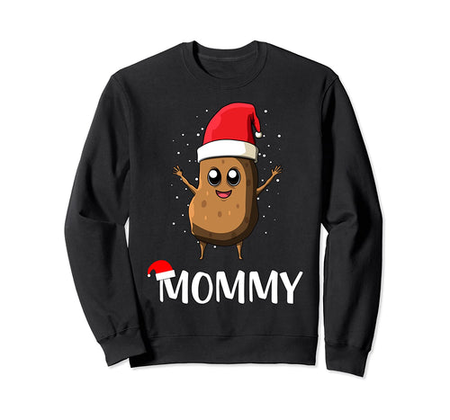 Santa Claus Potato Mommy Funny Christmas Mom Gift Sweatshirt