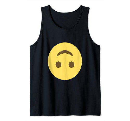 Emoji Upside-Down Face Smiley Joking Silly Emoticon Texting Tank Top
