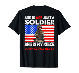 Mens My Niece My Soldier Hero Proud Army Uncle - Military Family T-Shirt