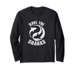 Save the Sharks Protect Ocean Scuba Diving Long Sleeve Shirt