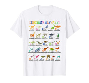 Back To School Funny Dinosaurs Alphabet Ideal Gift T-shirt