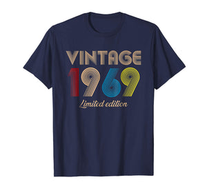 Vintage 1969 T-Shirt Born in 1969 Retro 50th Birthday Gifts