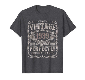 80 Years Old 1939 Vintage 80th Birthday T Shirt Decorations