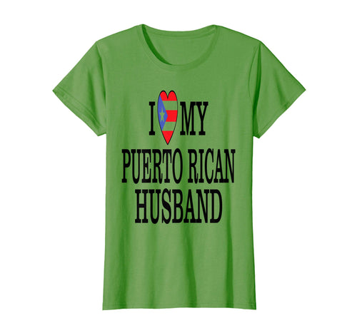 Womens I Love My Puerto Rican Husband - Marriage Gift T shirt