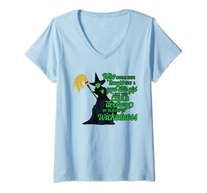 Womens Wizard of Oz, funny shirts and gifts Halloween wicked witch V-Neck T-Shirt