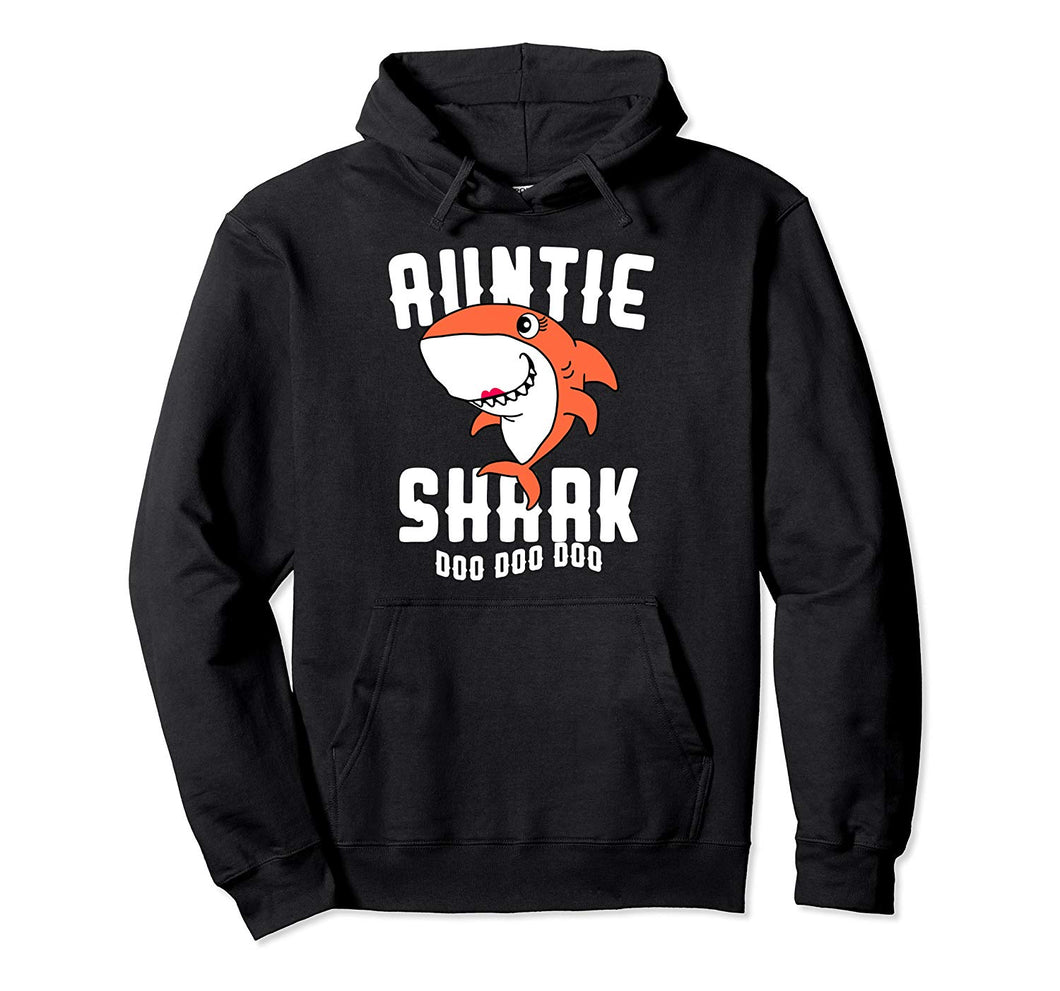 Auntie Shark Hoodie Mom Grandma Halloween Christmas Women