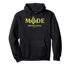Masonic Hoodie Prince Hall Made Mason Est 1784 Freemason