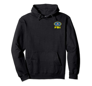 DOUBLE-SIDED FBI AUTHENTIC PULLOVER HOODIE