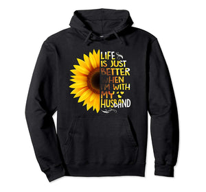 Life Is Better When I'm With My Husband Pullover Hoodie Wife