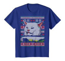 Afbeelding in Gallery-weergave laden, Woman Yelling at a Cat Ugly Christmas Sweater Meme Couples 2 T-Shirt
