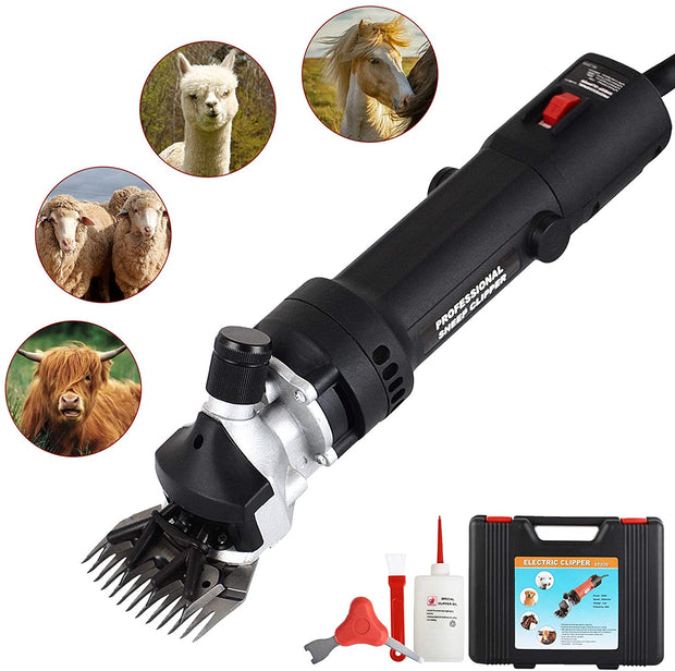Sheep Shears Large Livestock Animal Electric Clippers Support Livestock Shearing Work 350 Watts(Black))