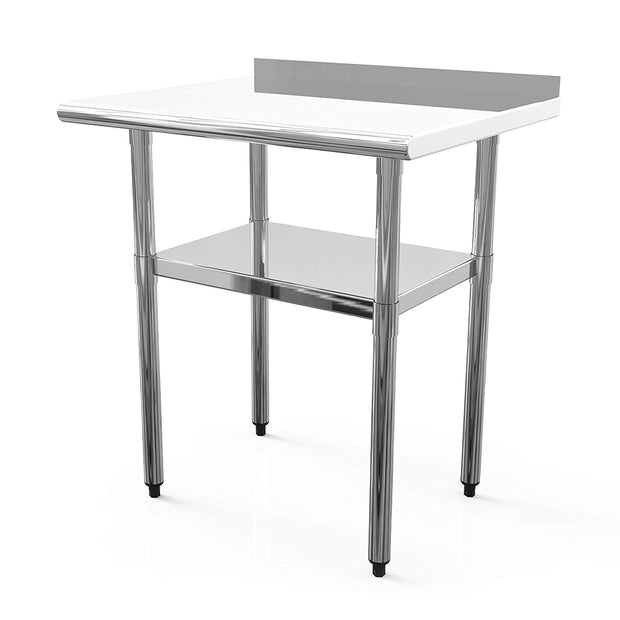 Nurxiovo Stainless Steel Work Table 30X24 in Commercial Working PrepTable with 1 1/2inch Backsplash Work Tables sale