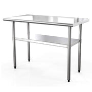 Nurxiovo Stainless Steel Table 48in.x24in. Commercial Prep Table Heavy Duty Garage Worktable sale
