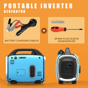 Portable Inverter Generator 800W Peak 120V Gas-Powered Ultralight Blue/Black